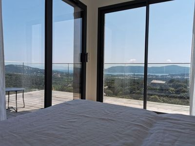 Photo for Architect's villa with panoramic views of the gulf of Porto Vecchio 7 Pers