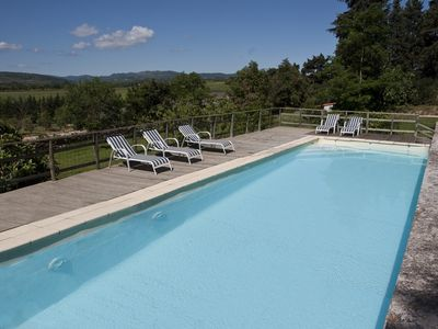 Photo for Old winegrower's house with pool in Languedoc (Aurore)