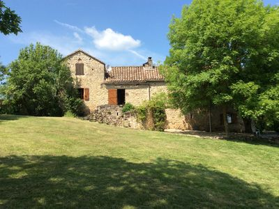 Photo for Beautiful old farmhouse with stunning views over lovely pool and countryside.
