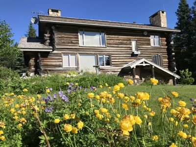 Photo for View! Secluded yet close to town, Family Friendly Log Home
