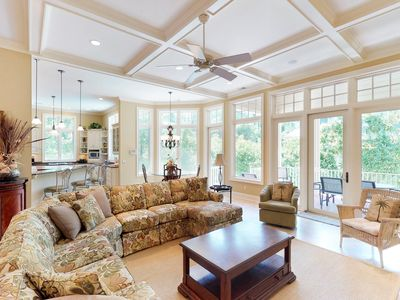 Photo for Snowbird-friendly Sea Pines Resort home w/ private pool & nearby beach access!