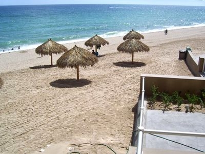 Photo for Best Ground Floor Walk Out to Beach and Pool from Patio Steps.  Premium condo