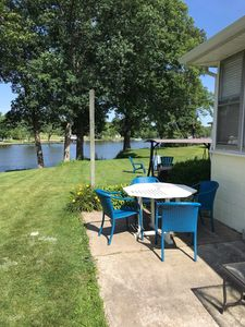 Photo for Gorgeous lake front cottage. Enjoy those summer nights on the lake