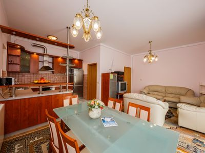 Photo for A4 large 150 m2 apt with 4 bedrooms, big balcony,sea view and outside fireplace
