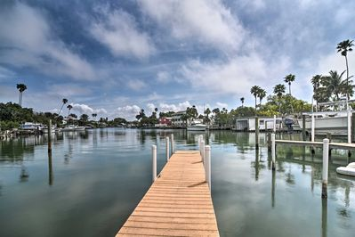 If boating sounds good, there is a private dock available for a small daily fee!