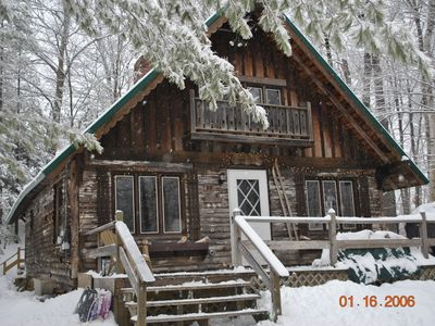 Photo for Cozy 3 bedroom A-frame chalet tucked away in the heart of ski country