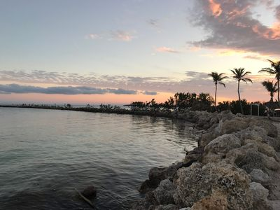 Sunset at the jetty, walking distance and inside the gated community