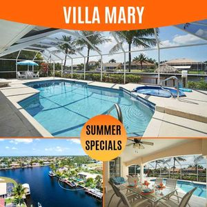 Photo for 20% OFF! SWFL Rentals - Villa Mary - Stunning Gulf Access Pool Home Sleeps 6