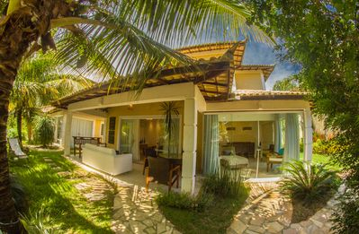Photo for Wonderful House with Four Suites, Less Than Three Minutes from Geribá Beach