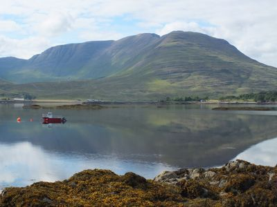 Loch Kishorn, view from the shore below the cottage.