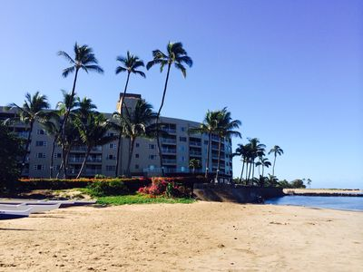 Photo for Gorgeous 2BD Oceanview Condo at Menehune Shores with Rooftop Deck!