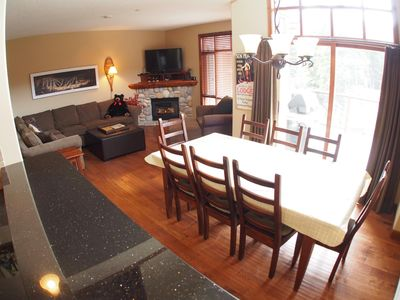 Photo for Magnificent multi level 4 bedroom + den townhouse, close to ski run, great views of Mt. Morrisey