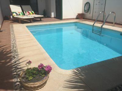 Photo for Sunny duplex with a private, comfortable and well equipped pool.