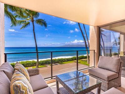 Photo for Beautiful Renovated Mahana Condo214 1Bed/1Bath Direct Oceanfront in Kaanapali