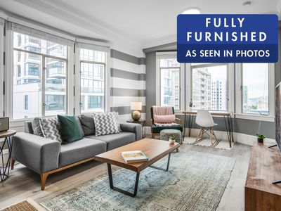 Photo for Ample Pacific Heights 2BR by cable car, w/ W/D by Blueground
