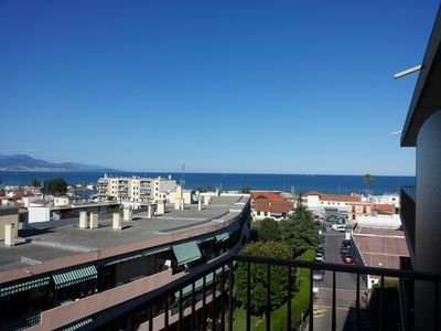 Photo for Studio Antibes great view sea and mountains close beaches