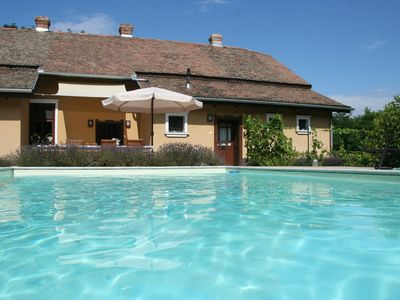Photo for Country house, 8 people. Private parking, swimming pool and large private garden. At Lake Tisza.