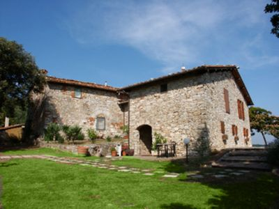 Photo for Holiday home in the hills between Lucca and Viareggio with pisicina in farmhouse 4 pers