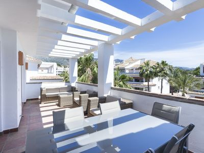 Photo for 3 Beds Penthouse with sea views in Las Canas Beach, Marbella Golden Mile