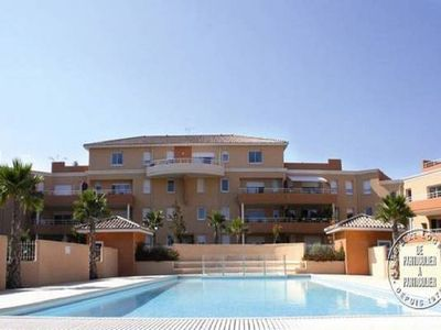 Photo for Béziers 1 to 6 people 76m2 quiet terrace 15m2 heated pool, air conditioning, sea