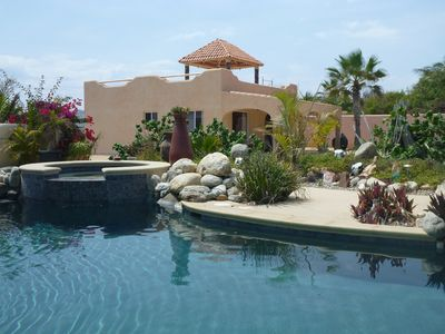 Photo for Oceanfront on secluded beach, pool & palapa