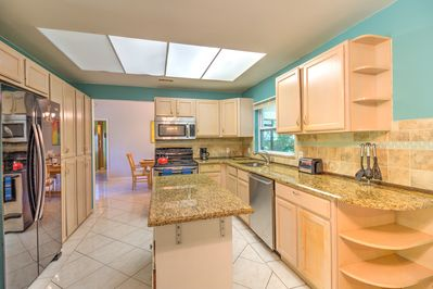 Large Kitchen and Island