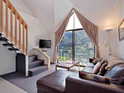 Photo for Balcony apartment with loft and magnificent views, 2 minutes from Thredbo village center