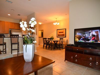 Photo for Enjoy Orlando With Us - Paradise Palms Resort - Welcome To Relaxing 4 Beds 3 Baths  Pool Villa - 4 Miles To Disney