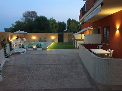 Photo for DinastiaCase: Villa le Mimose, apartm. / veranda / garden / pool / beach 30 MT.