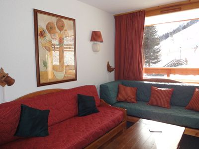 Photo for Spacious apartment with south-facing balcony next to the slopes in Meribel-Mottaret