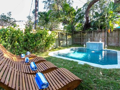 Photo for Sextant's Bohemian Bungalow—Plunge Pool, 10 minutes to South Beach