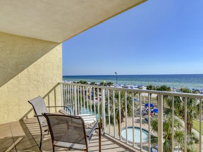 Photo for Spectacular Views of the Gulf Of Mexico from this 4th floor balcony