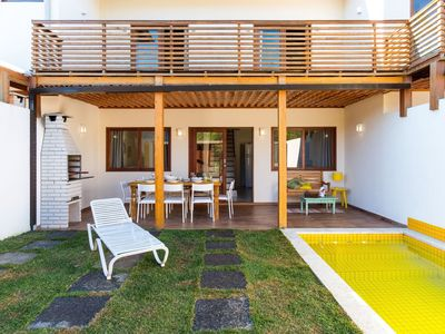 Photo for Amber - Sea front charming house, 1.5kms from old town,, swimming pool, BBQ. WiFi