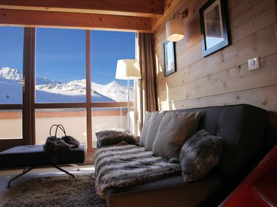 Photo for Val Thorens-Cozy Duplex 3 bedrooms ski slopes with views SI217 ****