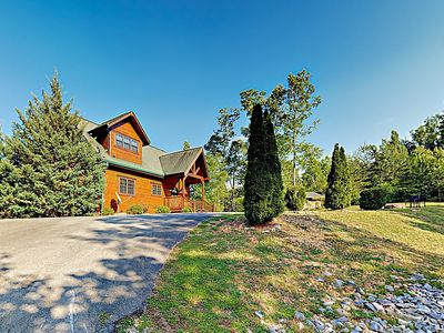 "Photo for New Listing! ""4 Your Pleasure"" Luxe Retreat w/ Hot Tub, Media & Game Rooms"