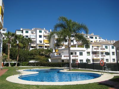Photo for Spacious 2 bedroom apartment in peaceful, modern complex near beach and golf