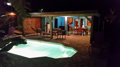 Photo for kaz a coco, blue villa with private pool, 2 bedrooms, 2 bathrooms
