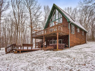 Photo for Lake access chalet-style home w/ 2 furnished patios, & private hot tub - dogs OK