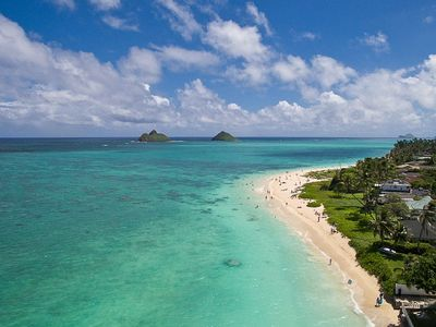 Photo for Impeccable Oceanfront Cape Code Style Lanikai Home with Stunning Views