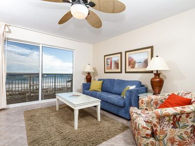 Stylish furnishings in this 2nd floor 1 bedroom beach front cond - Stylish furnishings in this 2nd floor 1 bedroom beach front condo. Cute, comfy and cozy. Enjoy your beach front retreat!