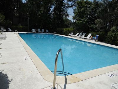 Night Heron community pool ready and waiting for you.