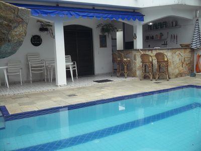 Photo for Cozy beach house with pool, barbecue 30 meters from the beach