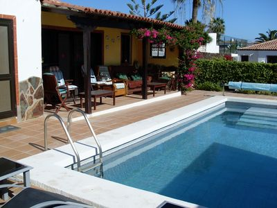 Photo for Impressive 3 bedroom, 3 bathroom villa with a heated private pool and sea views