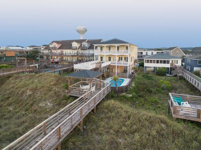 Photo for Oceanfront Large Property, 8 Bedrooms, Sleeps 22, Pool. Small Wedding Venue.