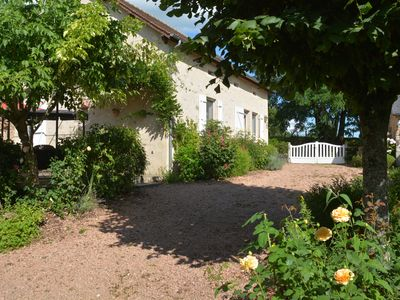 Photo for Idyllic, restored stone farmhouse in peaceful Burgundy countryside.