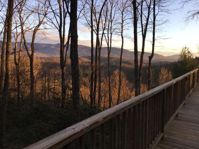 Photo for Restoration Rock - Panoramic Mountain Views, Hot Tub, Private, Yadkin River close!