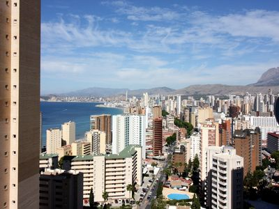 Photo for Sea view 1- bedroom apartment in New town of Benidorm