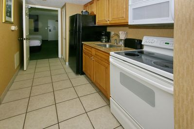 Full kitchen with new appliances and granite counter tops!