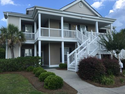 Photo for Ground-level 3 BR condo beside pool. Golf, Pool, Tennis, and Family Fun.