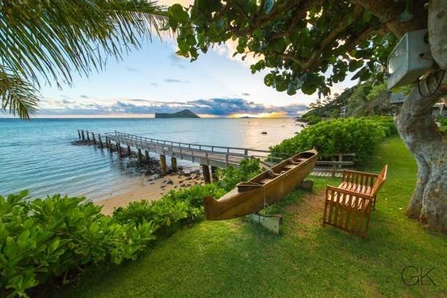 Waim O Beach Cottage Rental Relaxing Mornings Looking Out At Rabbit Island
